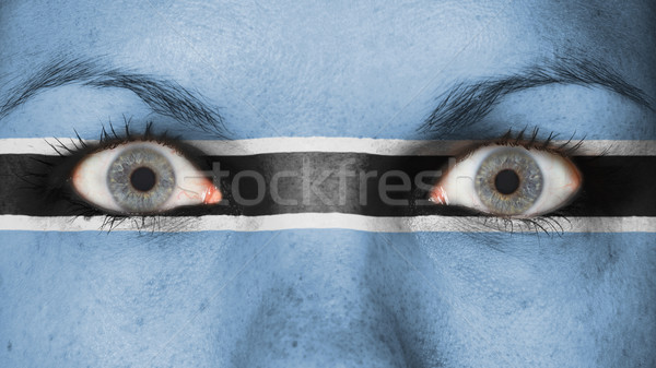 Close up of eyes with flag Stock photo © michaklootwijk