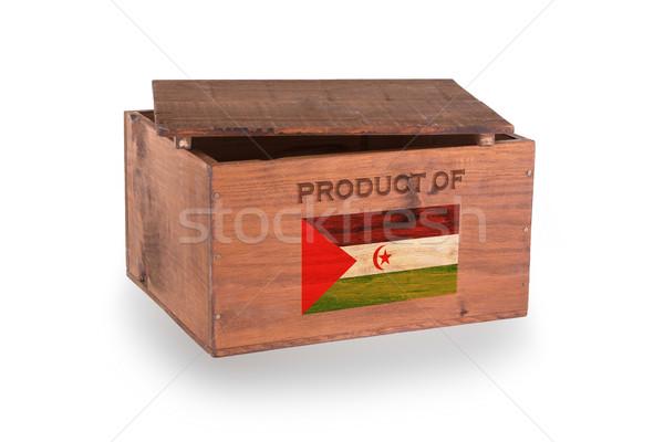 Stock fotó: Fából · készült · láda · izolált · fehér · termék · western