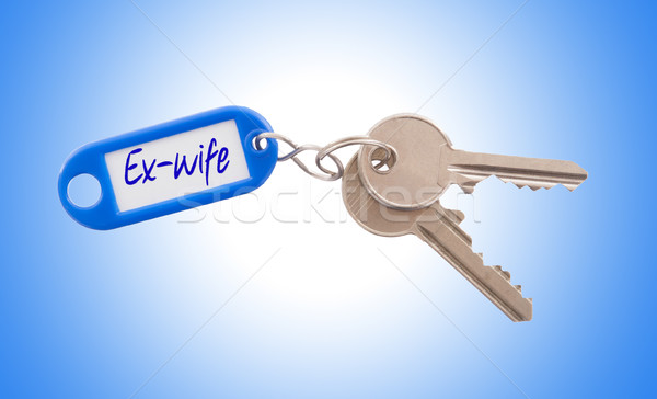 Key with blank label isolated Stock photo © michaklootwijk