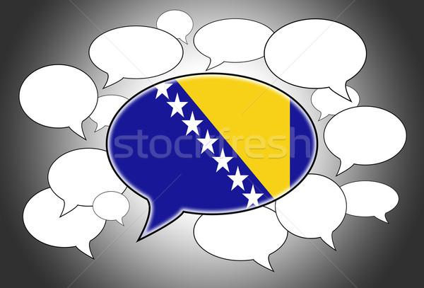 Bandera Bosnia Herzegovina fondo espacio blanco Foto stock © michaklootwijk
