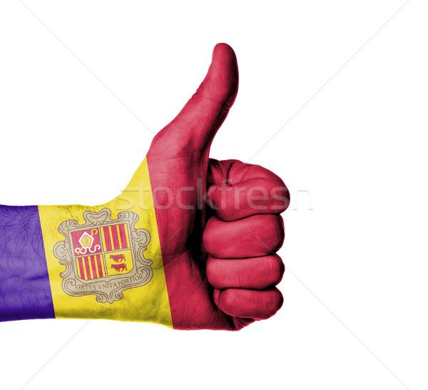 Mannelijke hand tonen teken Stockfoto © michaklootwijk