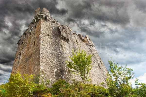 Stormy sky over castle Stock photo © michaklootwijk