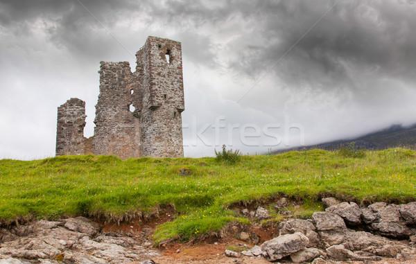 Zdjęcia stock: Ruiny · starych · zamek · Szkocji · budynku · krajobraz