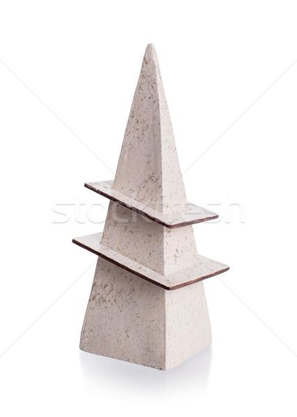 Moderne aardewerk geïsoleerd witte geschenk schaduw Stockfoto © michaklootwijk
