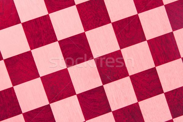 Starych szachownica odizolowany czerwony Zdjęcia stock © michaklootwijk