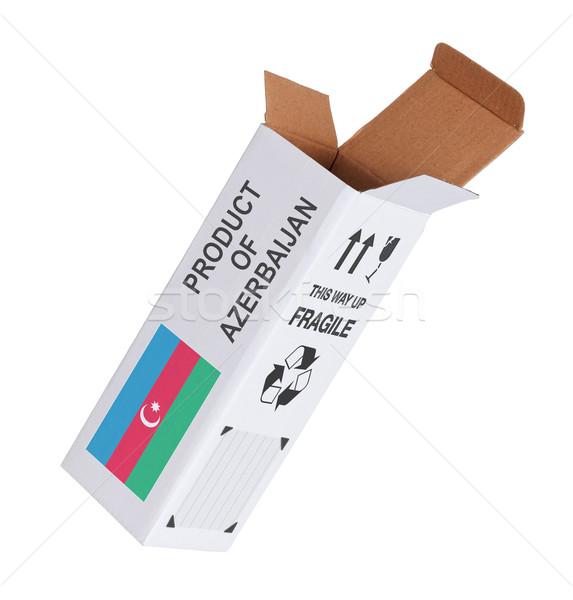 Exporteren product Azerbeidzjan papier vak Stockfoto © michaklootwijk