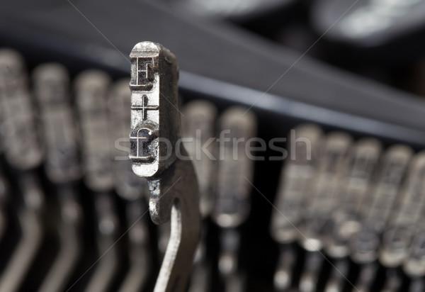 Martillo edad manual máquina de escribir escrito teclado Foto stock © michaklootwijk
