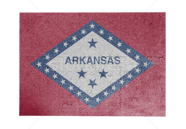 Nagy kirakós játék 1000 darabok Arkansas zászló Stock fotó © michaklootwijk