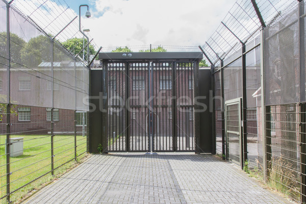 Large gate at an old jail Stock photo © michaklootwijk