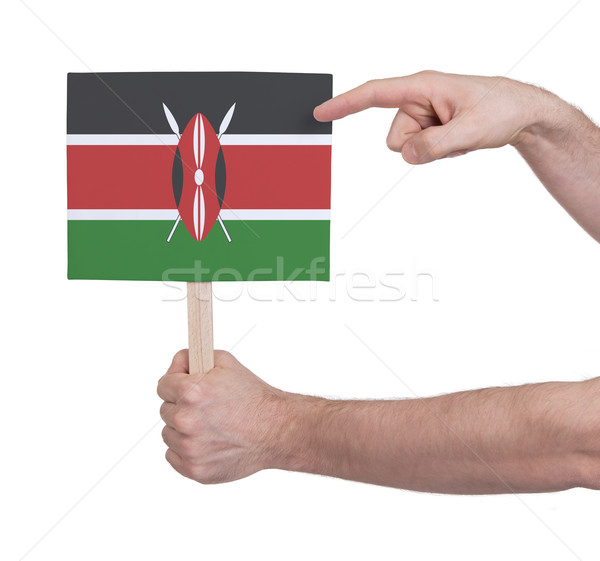 Hand klein kaart vlag Kenia Stockfoto © michaklootwijk