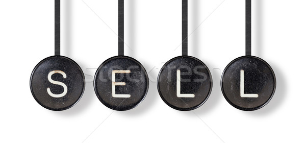 Typewriter buttons, isolated - Sell Stock photo © michaklootwijk