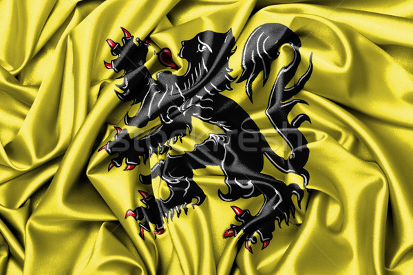 Satin flag - flag of Flanders Stock photo © michaklootwijk