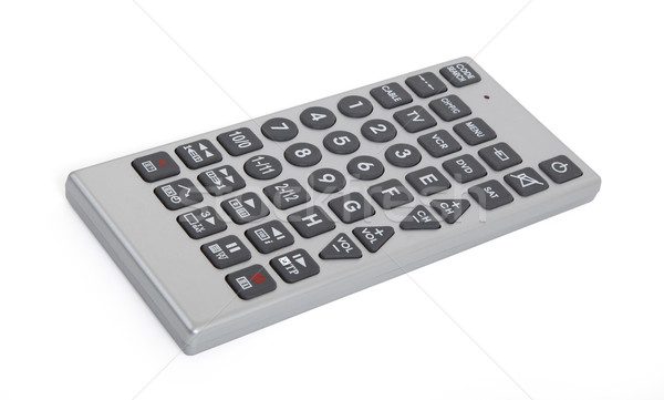Oude afstandsbediening tv geïsoleerd witte televisie Stockfoto © michaklootwijk