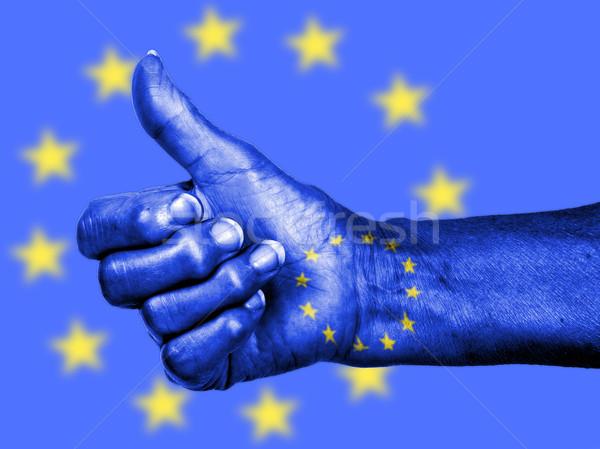 старуху знак флаг шаблон европейский Сток-фото © michaklootwijk