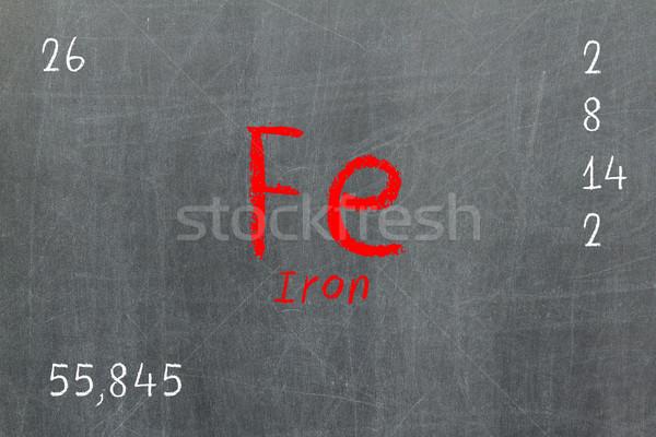 孤立した 黒板 周期表 鉄 化学 学校 ストックフォト © michaklootwijk