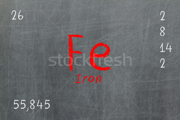 Yalıtılmış tahta demir kimya okul Stok fotoğraf © michaklootwijk