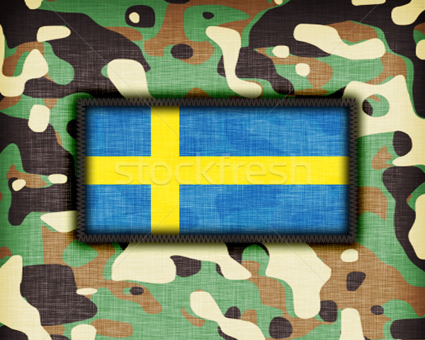 Amy camouflage uniform, Sweden Stock photo © michaklootwijk