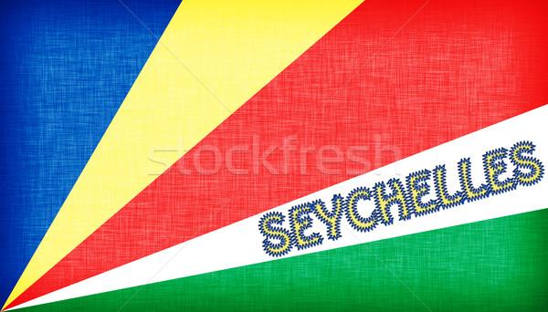 Zászló Seychelle-szigetek levelek izolált textúra Stock fotó © michaklootwijk