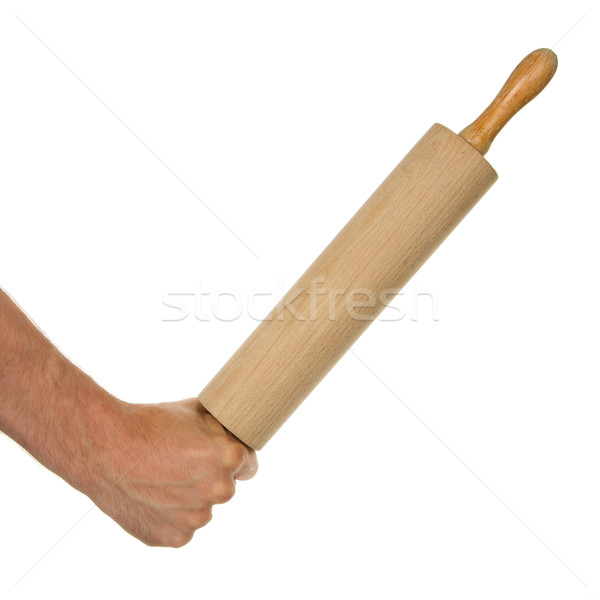Hand with rolling-pin Stock photo © michaklootwijk