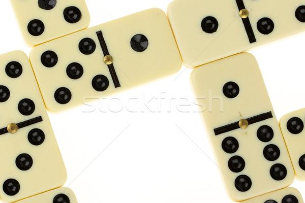 Close up of domino Stock photo © michaklootwijk