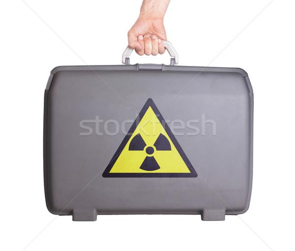 Kullanılmış plastik bavul tehlike radyasyon Stok fotoğraf © michaklootwijk