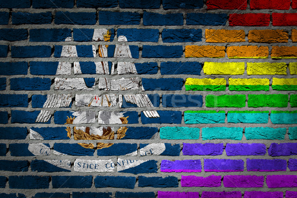 Dark brick wall - LGBT rights - Louisiana Stock photo © michaklootwijk