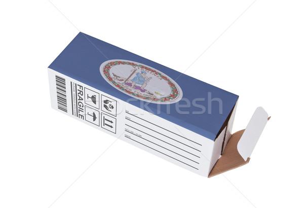 Exportar produto Virgínia papel caixa Foto stock © michaklootwijk