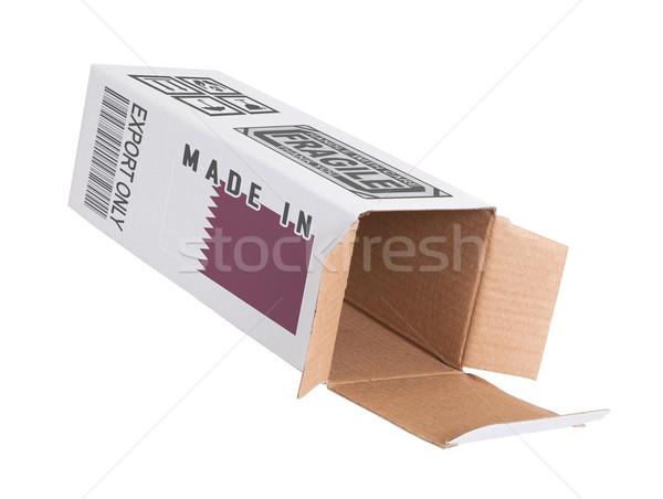 Ihracat ürün Katar kâğıt kutu Stok fotoğraf © michaklootwijk
