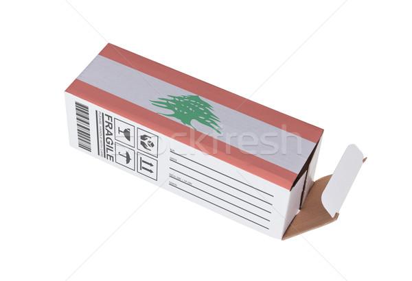 Exportar produto Líbano papel caixa Foto stock © michaklootwijk