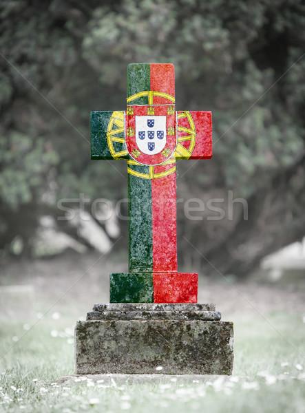 кладбище Португалия старые выветрившийся трава Сток-фото © michaklootwijk
