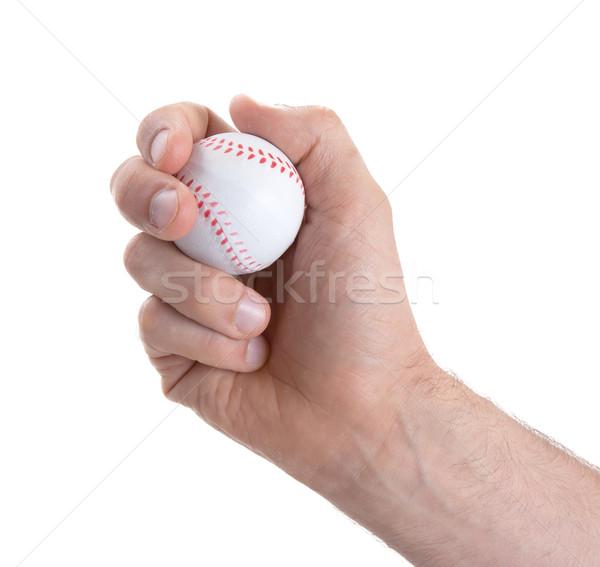 Mały zabawki baseball odizolowany biały pomarańczowy Zdjęcia stock © michaklootwijk