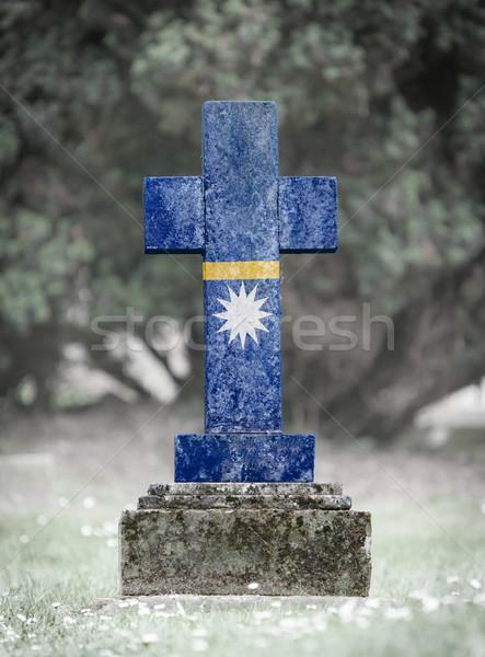Gravestone in the cemetery - Nauru Stock photo © michaklootwijk