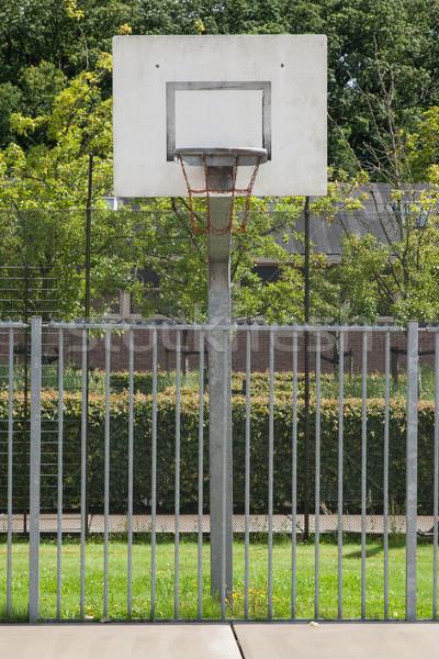 баскетбольная площадка старые тюрьму Нидерланды фон оранжевый Сток-фото © michaklootwijk