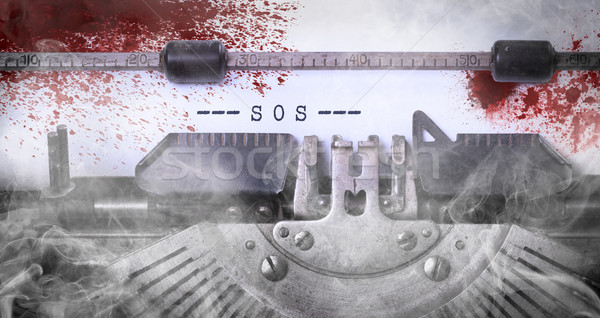 Véres jegyzet klasszikus felirat öreg írógép Stock fotó © michaklootwijk
