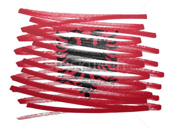 Bandeira ilustração Albânia caneta negócio pintar Foto stock © michaklootwijk