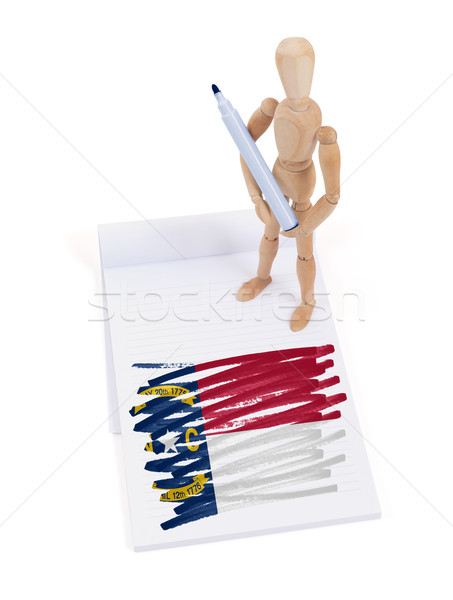Wooden mannequin made a drawing - North Carolina Stock photo © michaklootwijk