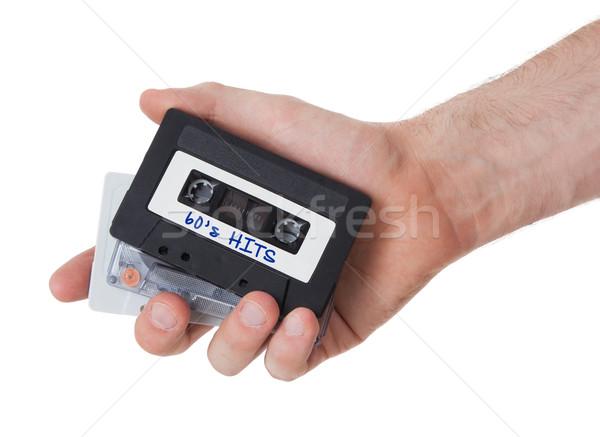 Vintage аудио кассету лента изолированный белый Сток-фото © michaklootwijk