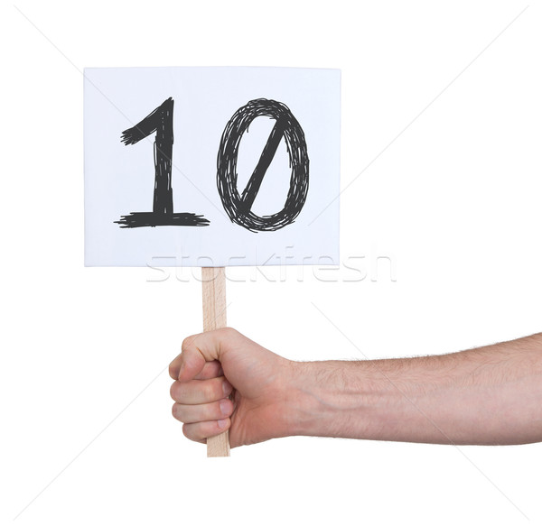 Sign with a number, 10 Stock photo © michaklootwijk