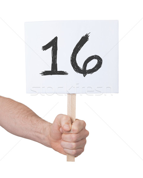 Sign with a number, 16 Stock photo © michaklootwijk