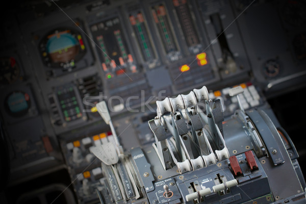 Different meters and displays in an old plane Stock photo © michaklootwijk