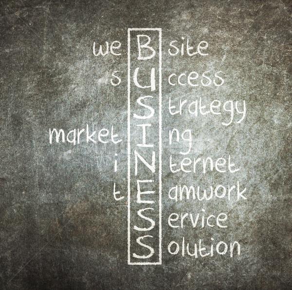 Stock photo: Business concept crosswords