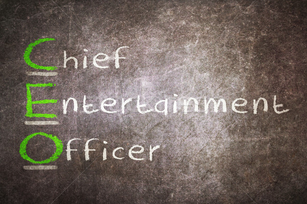 Acronym of CEO - Chief Entertainment Officer Stock photo © michaklootwijk