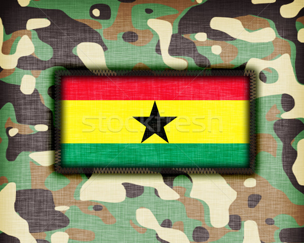 Camouflage uniform Ghana vlag textuur abstract Stockfoto © michaklootwijk