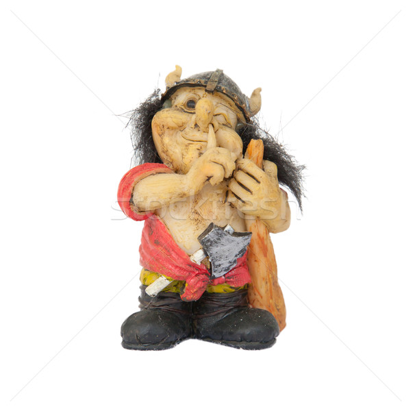 Small statue of a nosepicking troll Stock photo © michaklootwijk