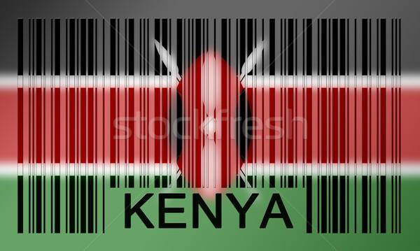 Vonalkód zászló Kenya festett felület terv Stock fotó © michaklootwijk