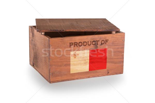 Stock fotó: Fából · készült · láda · izolált · fehér · termék · Málta