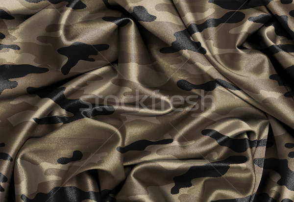 Saten bayrak üç boyutlu vermek ordu Stok fotoğraf © michaklootwijk
