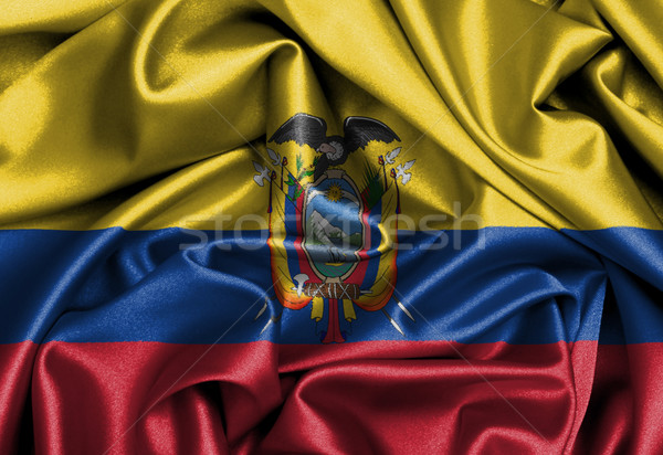атласных флаг оказывать Эквадор текстуры Сток-фото © michaklootwijk