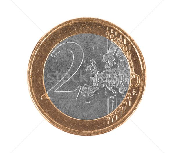 Fake euro coin, 2 euro Stock photo © michaklootwijk