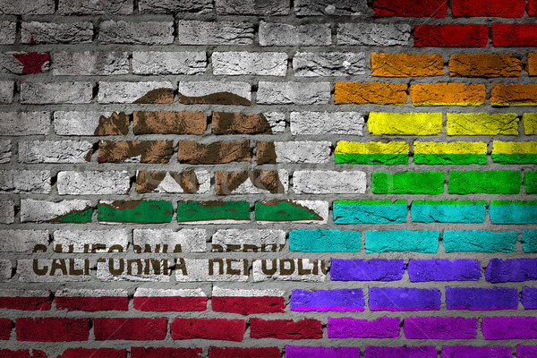 Dark brick wall - LGBT rights - California Stock photo © michaklootwijk